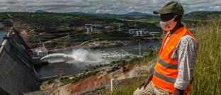 Wasserkraftwerk Souapiti im westafrikanischen Guinea: