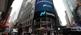 Nasdaq-Screen in New York City