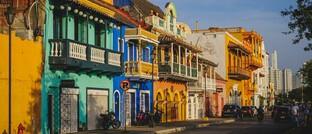 Straßenszene aus Cartagena in Kolumbien