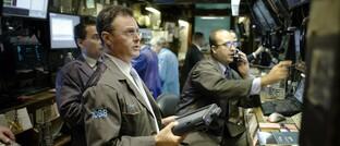 Aktienhändler an der Börse in New York im September 2008, mitten im Crash