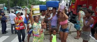 Einwohner von Recife protestieren gegen eine mangelhafte Wasserversorgung