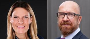 Vertriebsspezialisten Regine Wiedmann und Rupert Pybus