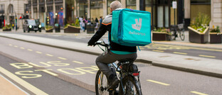 Deliveroo-Fahrer in London