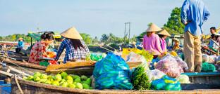 Schwimmender Markt in Can Tho, Vietnam