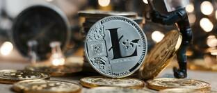 Kryptowährung Litecoin (hier ausnahmsweise als Münze)