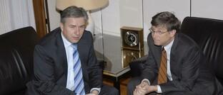 Ehemaliger Berliner Bürgermeister mit Software-Legende Bill Gates (2008)