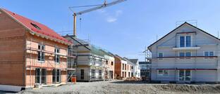 Neubaugebiet in Feldkirchen bei München