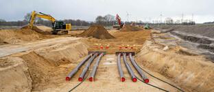 Verlegung von Hochspannungs-Erdkabeln zum Weitertransport von Offshore-Windstrom in Niedersachsen