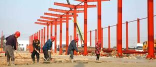 Baustelle chinesische Ziegelfabrik