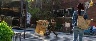 Amazon-Paketbote in New York