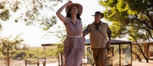 Älteres Paar genießt seine Südafrika-Reise in einem Luxus-Ressort in Kapstadt