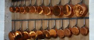 Kupfergeschirr in der Küche