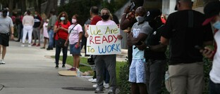 Demonstranten in Hollywood