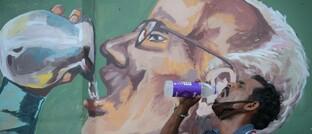 Streetart in der indischen Stadt Agartala
