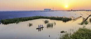 Solarpark im chinesischen Taizhou
