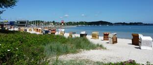 Leerer Strand in Eckernförde
