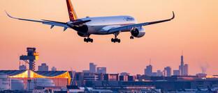 Lufthansa-Maschine über Frankfurt