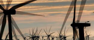 Windkraft aus der kalifornischen Mojave-Wüste