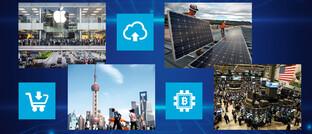 Hightech, Solar-Energie, Millionen-Metropole Shanghai und die Börse in New York