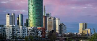 Westhafen Tower in Frankfurt, Sitz der Europäischen Aufsichtsbehörde Eiopa