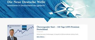 Screenshot des Internetauftritts des Loys Premium Deutschland