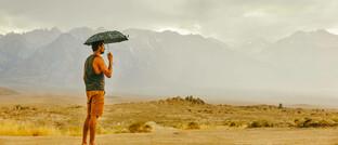 Regen in der kalifornischen Wüste