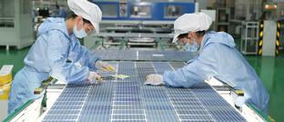 Solarmodulfertigung in China