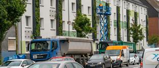 Begrünte Hausfassade in Essen