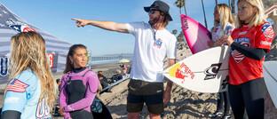Surfer-Gruppe in Kalifornien