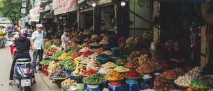 Straßenmarkt in Vietnam