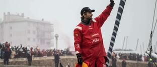 Boris Herrmann im Hafen von Monaco nach der Weltumsegelung 2020/21