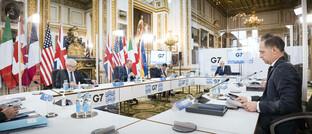 Treffen der G7-Außenminister, links Bundesaußenminister Heiko Maas