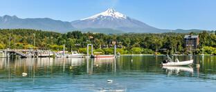 Der Vulkan Villarrica (2.847 m) in Chile
