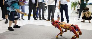 Roboter-Huftier auf einer Messe in Ningbo/China