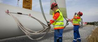 Aufstellung einer Windkraftanlage