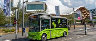 Elektrobus in Metz, Frankreich