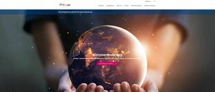 Internet-Auftritt von des Technologie-Unternehmens Baringa
