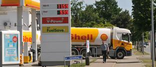 Shell-Tankstelle in Kopenhagen-Kastrup, Dänemark