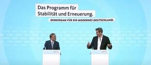 Vorstellung des Wahlprogramms der Unionsparteien für die Bundestagswahl 2021