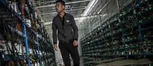 Krypto-Schürffarm in der chinesischen Provinz Sichuan