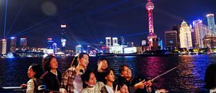 Lichtershow in Shanghai