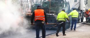 Arbeitnehmer im Straßenbau