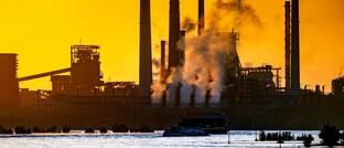 Stahlwerk der Thyssenkrupp Steel Europe in Duisburg