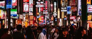 Einkaufsmeile in Tokio