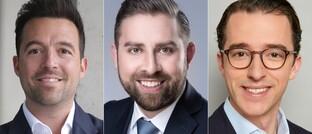 Mariano Weiler (l.), Matthias Ernst (Mitte) und Mike Bischler