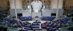 Plenarsaal im Bundestagsgebäude