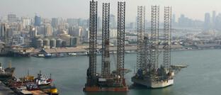 Bohrplattform in den Vereinigten Arabischen Emiraten