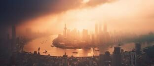 Abgasdunst über Shanghai