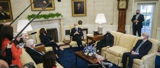 Treffen der US-Regierung mit Vertretern von US-Großbanken