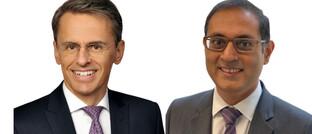 Markus Taubert (l.) und Alok Wadhawan von Muzinich & Co.